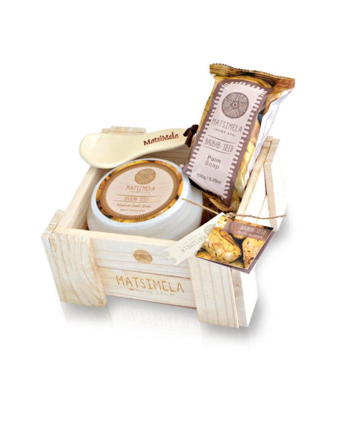 Baobab Seed Products In A Crate   Matsimela Home Spa 40