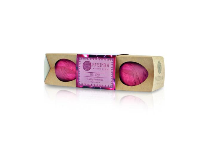 Red Berry Fizz Ball Set | Matsimela Home Spa 60