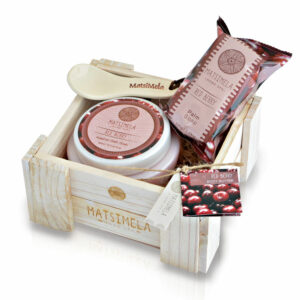 Red Berry Products In A Crate | Matsimela Home Spa