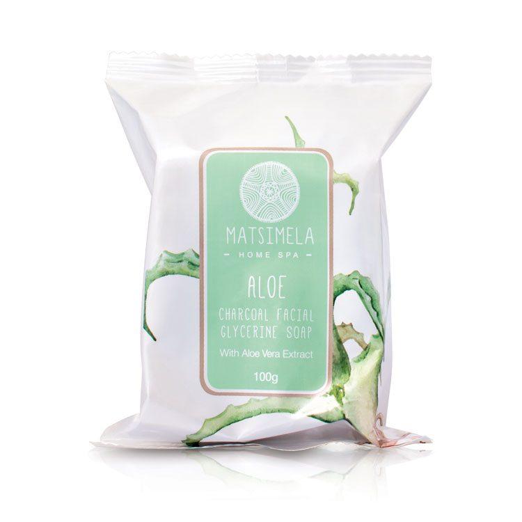 Aloe Charcoal Soap | Matsimela Home Spa
