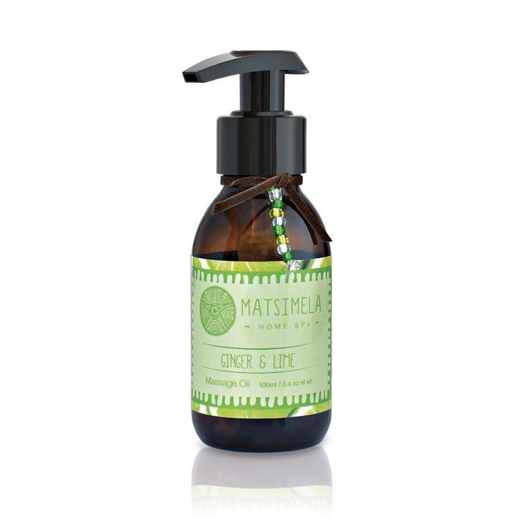 Ginger & Lime Massage Oil | Matsimela Home Spa 15