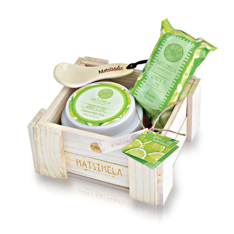Ginger & lime Products In A Crate | Matsimela Home Spa