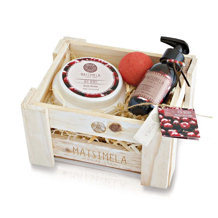 Red Berry Products In A Crate | Matsimela Home Spa 15
