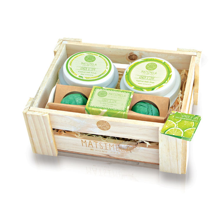 Ginger & Lime Products In A Crate | Matsimela Home Spa 3