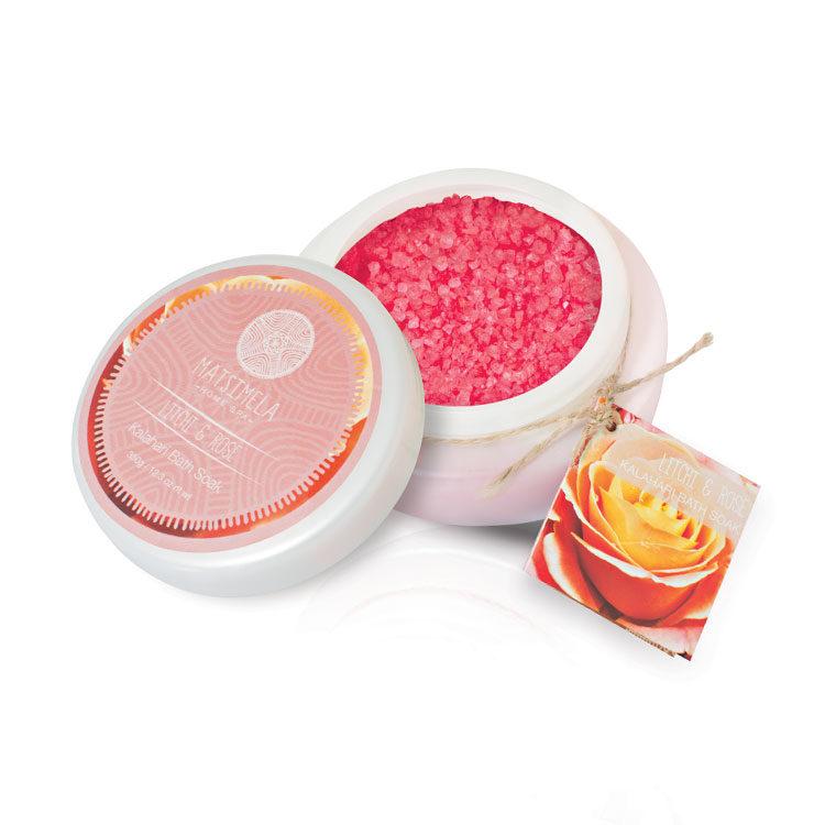 Litchi & Rose Bath Soak | Matsimela Home Spa 4