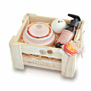 Litchi & Rose Products In A Crate | Matsimela Home Spa 5