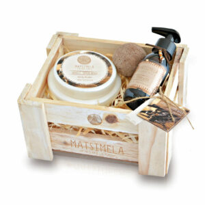 Vanilla & Sandalwood Products In A Crate | Matsimela Home Spa 2