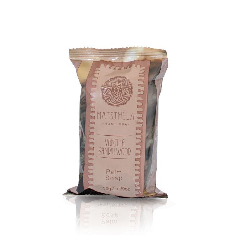 Vanilla & Sandalwood Palm Soap   Matsimela Home Spa 2