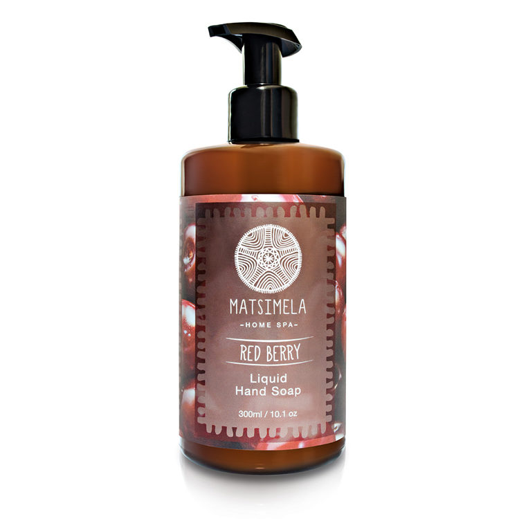 Red berry hand soap - Matsimela Home Spa