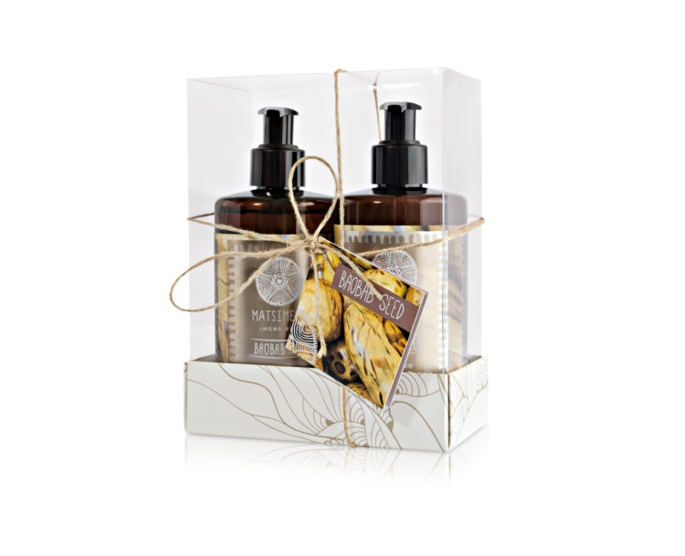 Baobab seed gift set - Matsimela Home Spa