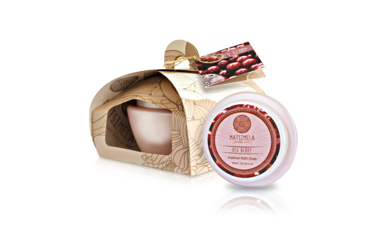 Red berry beauty products - Matsimela Home Spa
